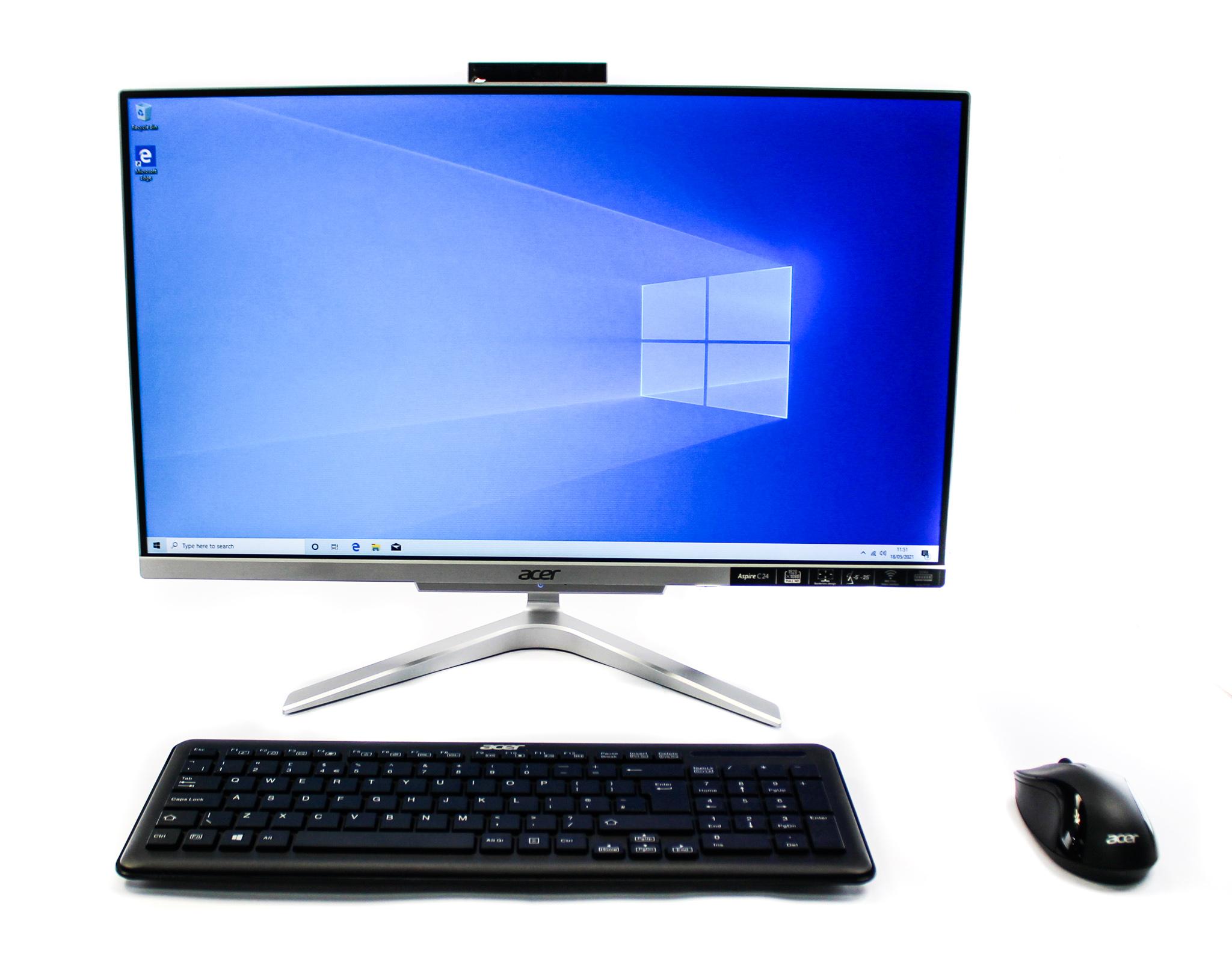 """Acer Aspire C24-865 23.8"""" All in One PC Core i3-8130U/8GB RAM/1TB HDD/Windows 10"""